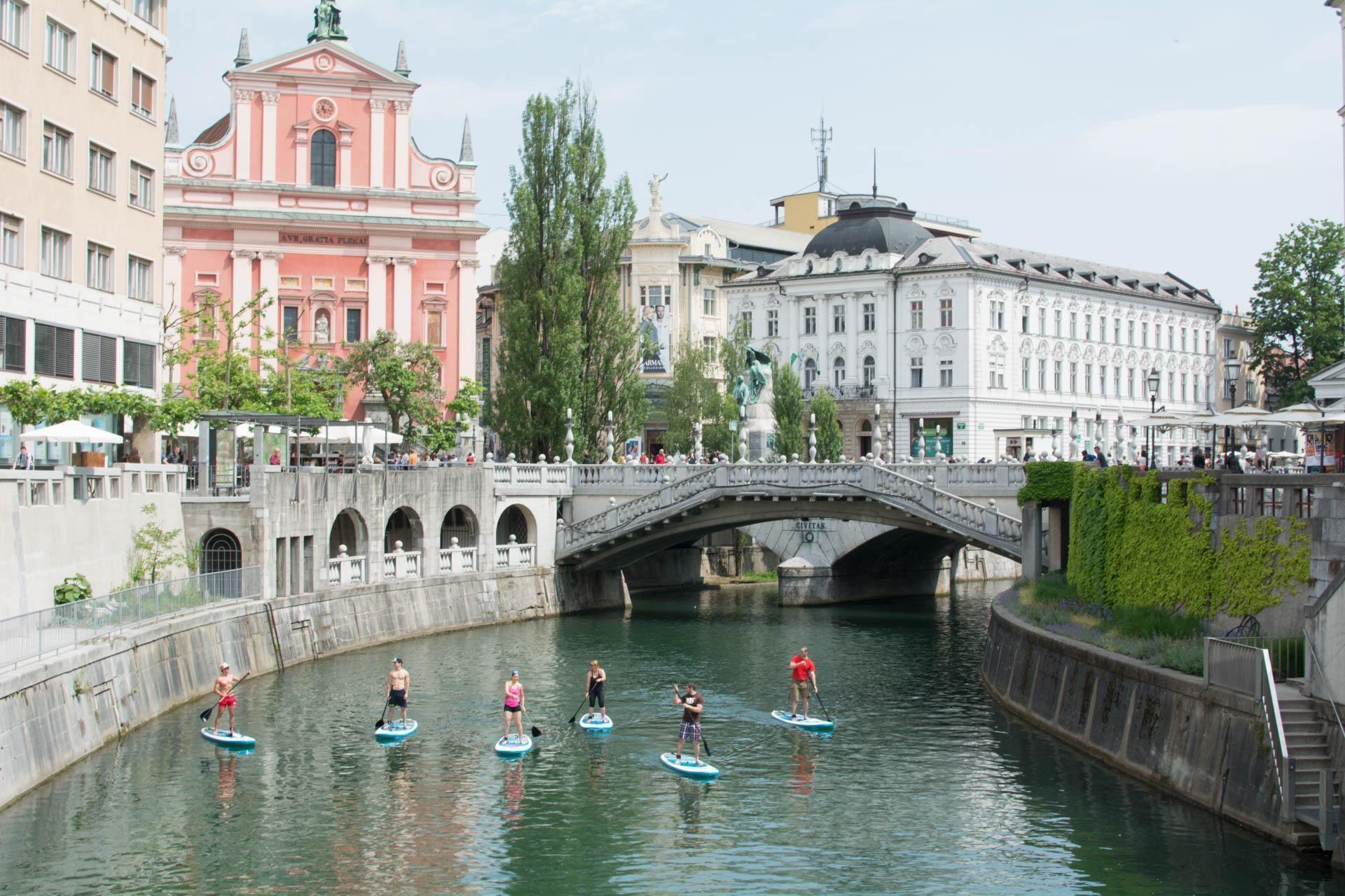 Paddleboarding Ljubljana