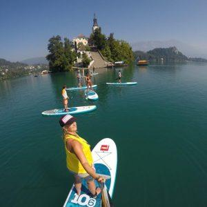 Standup paddle boarding tour | lake Bled, Slovenia