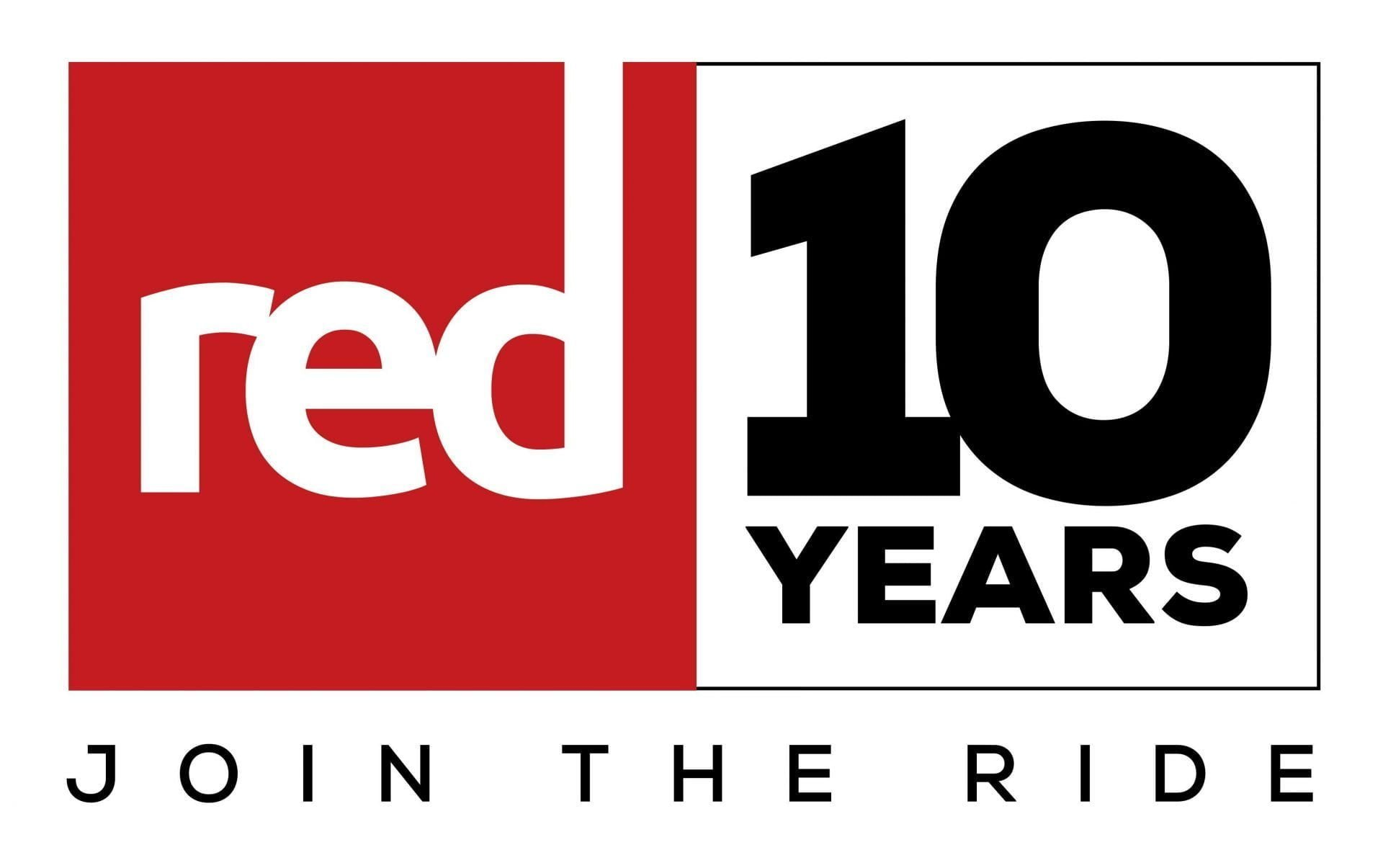 RED 10 years logo