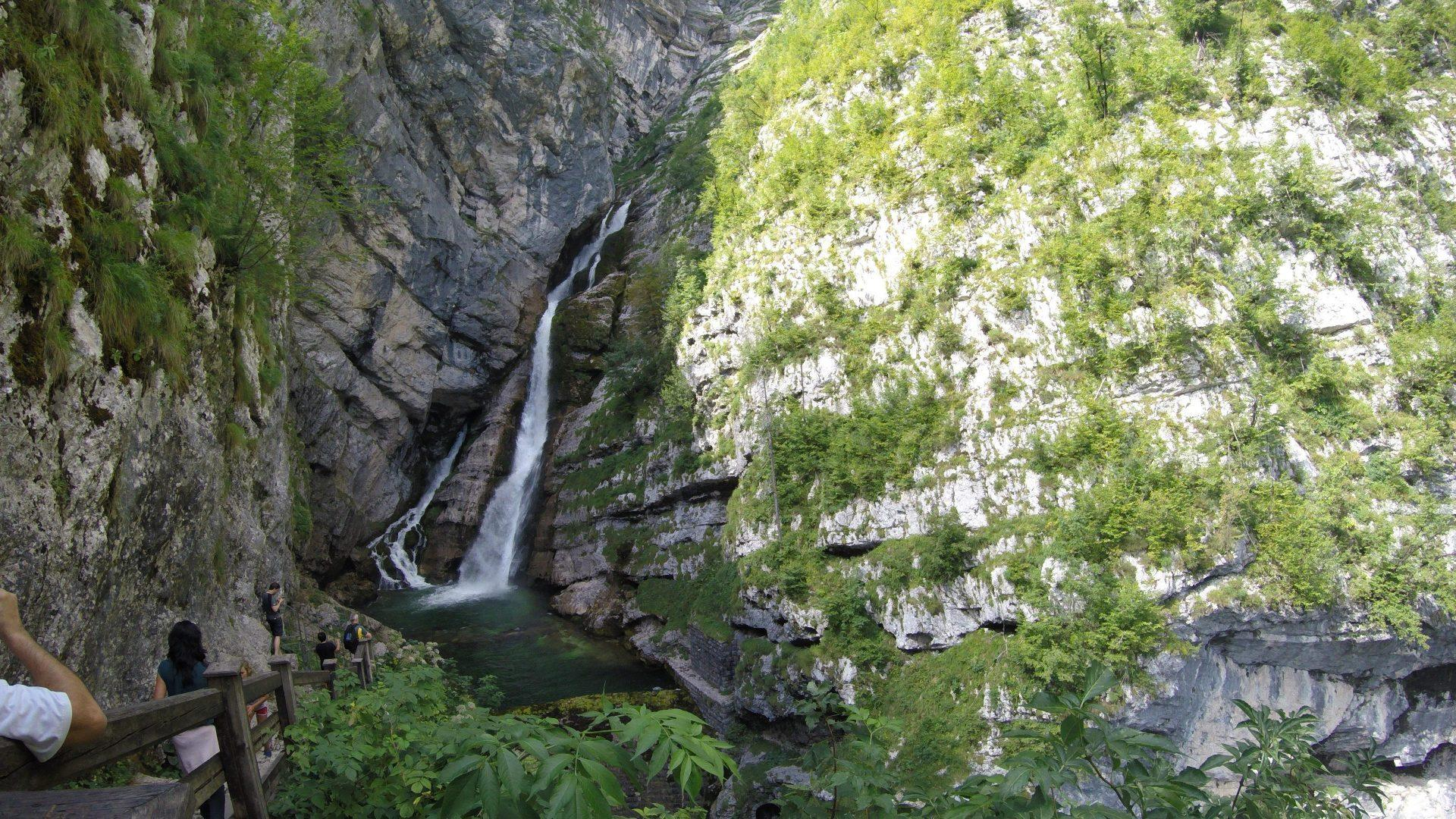 Savica waterfall and sup tour Bananaway lake Bohinj, Slovenia
