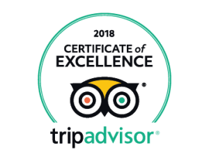 Tripadvisor Certifikat of excellence 2018