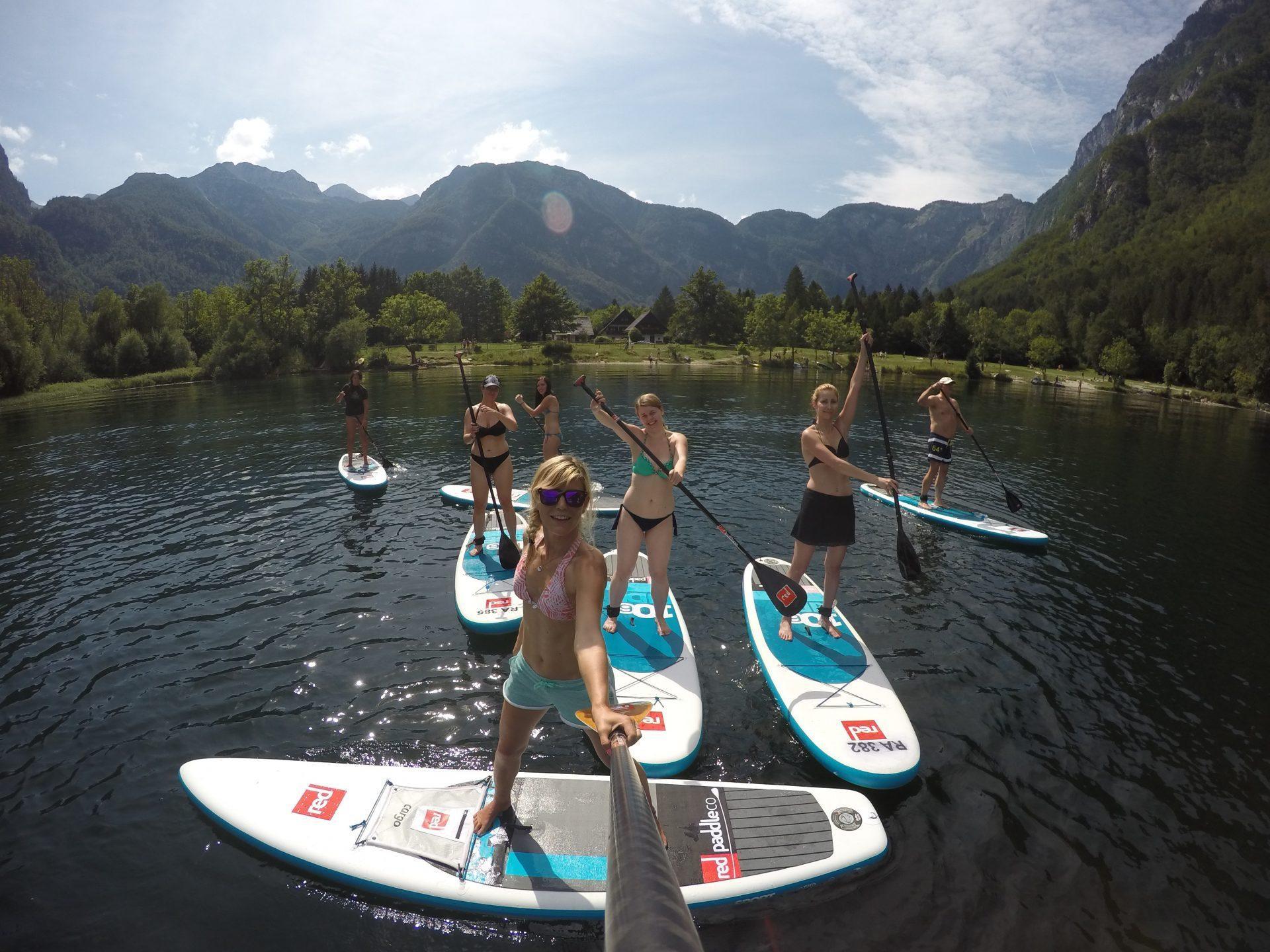 Bohinj lake sup tour