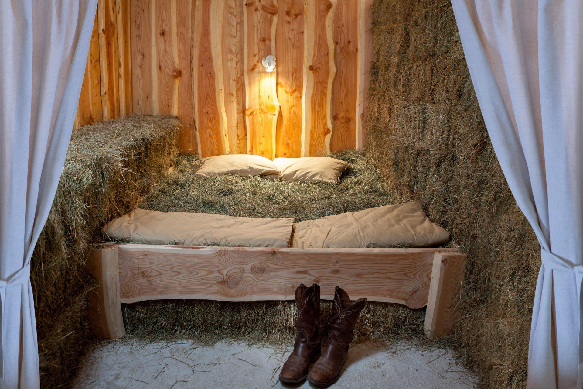 Sleeping on the hay experience Slovenia