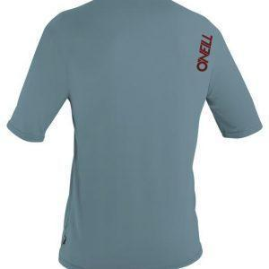 O'Neill Skins S/S Rash Tee Dusty Blue Back