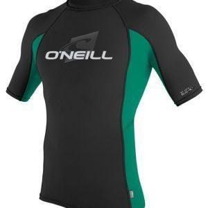 O'Neill Skins S/S Crew black/spruce/black Front