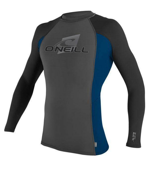 O'Neill Skins L/S Crew graph deepsea front