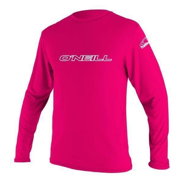 Watermelon O/'Neill Kid/'s Basic Skins LS Surf Shirt New