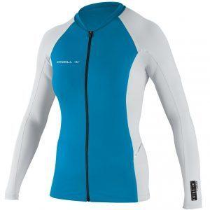 O'Neill WMS Skins Full-Zip Stitchless L/S, Front