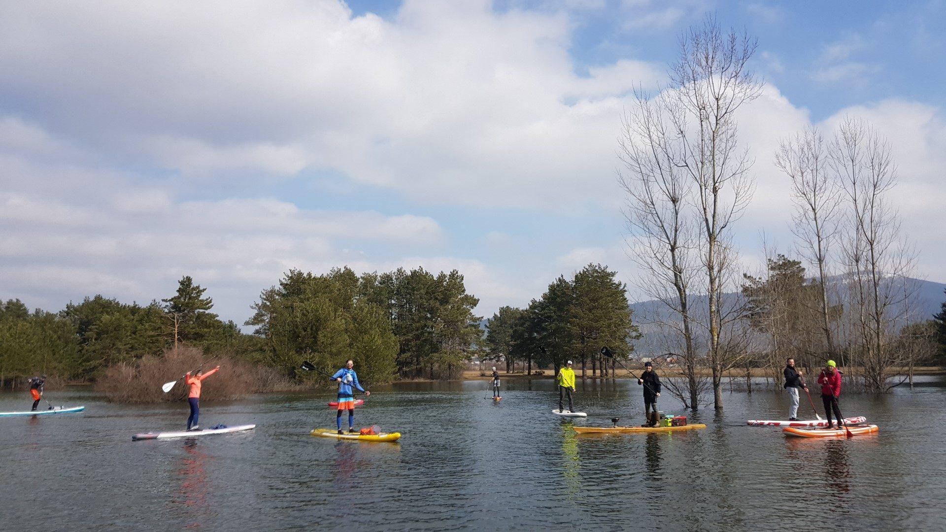 Paddling Cerknica lake