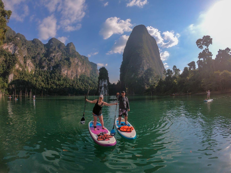 Paddleboarding Khao Sok National park, Thailand
