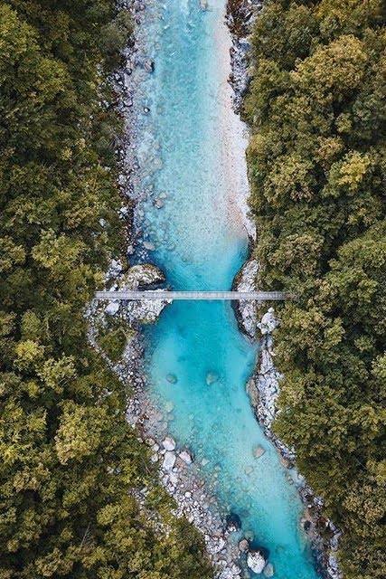 Soca river in Soca Valley Slovenia