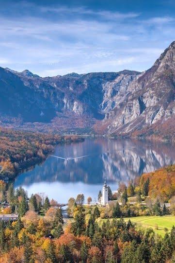 Lake Bohinj Slovenia in Autumn