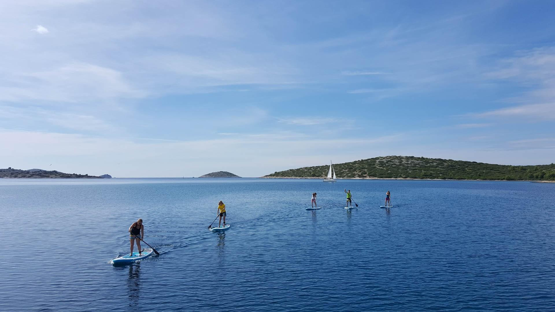 Paddle-boarding Croatia