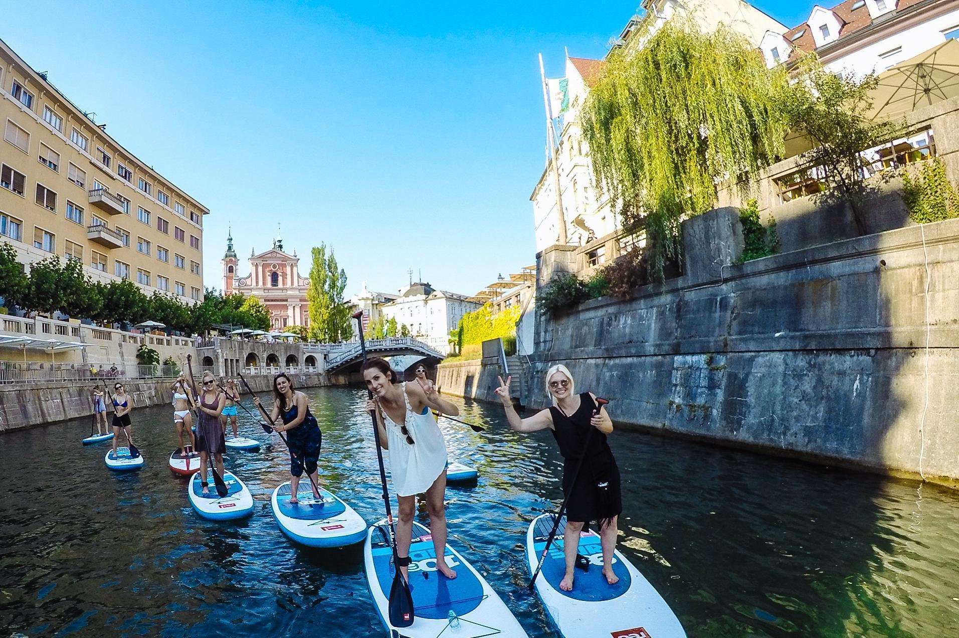 Paddle boarding Ljubljana, Slovenia, Europe