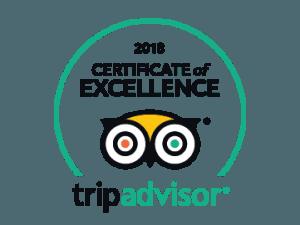 Tripadvisor Certifikat of excellence 2018