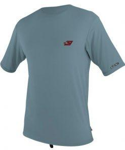 O'Neill Skins S/S Rash Tee Dusty Blue Front