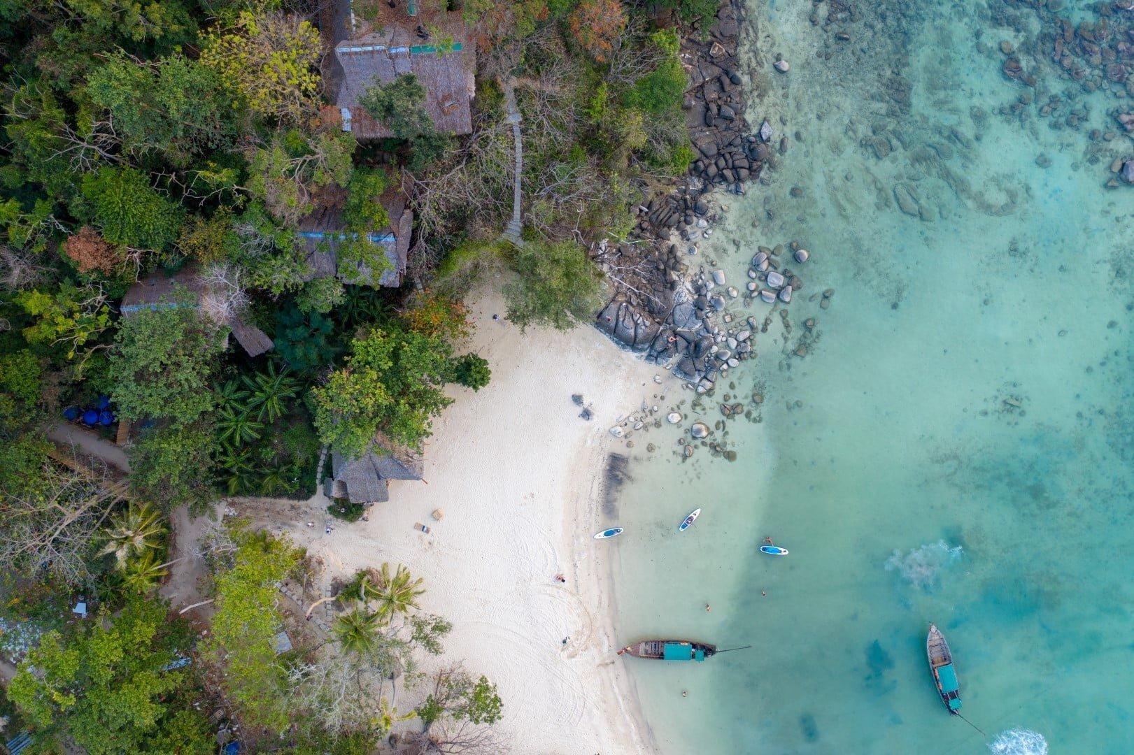 In search of remote, untouristy beach.