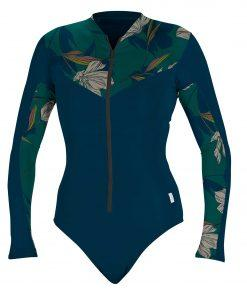 O'Neill WMS Front-Zip L/S Surf Suit GH8 Frenchnavy/Bridget -