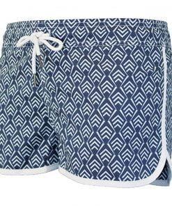 Kratke ženske kopalne hlače Waxx Virginia Modro bele barve